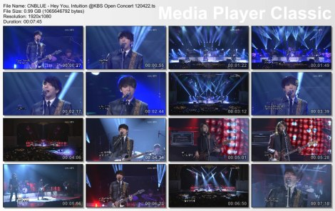 CNBLUE - Hey You, Intuition @KBS Open Concert 120422