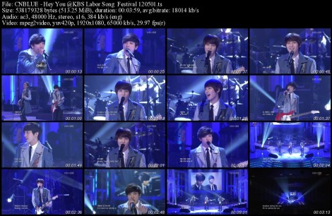CNBLUE - Hey You @KBS Labor Song  Festival 120501