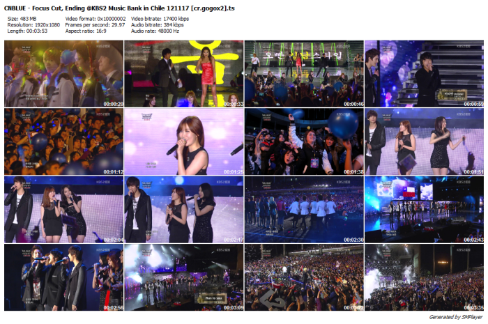 CNBLUE - Focus Cut, Ending @KBS2 Music Bank in Chile 121117 [cr.gogox2]_preview