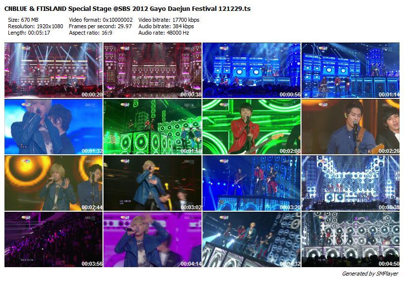 CNBLUE & FTISLAND Special Stage @SBS 2012 Gayo Daejun Festival 121229