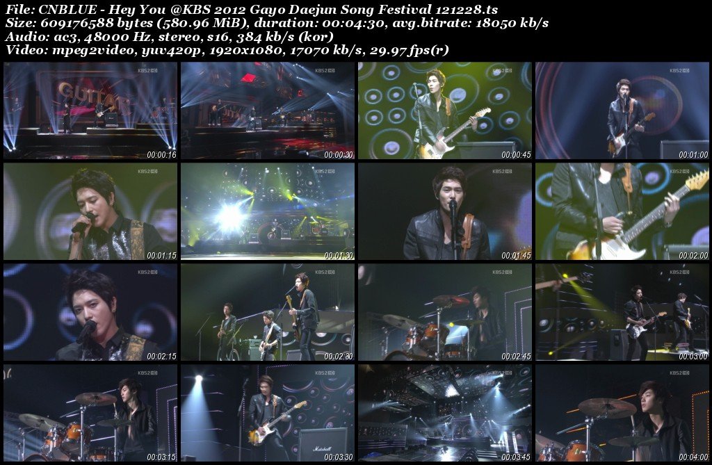 CNBLUE - Hey You @KBS 2012 Gayo Daejun Song Festival 121228