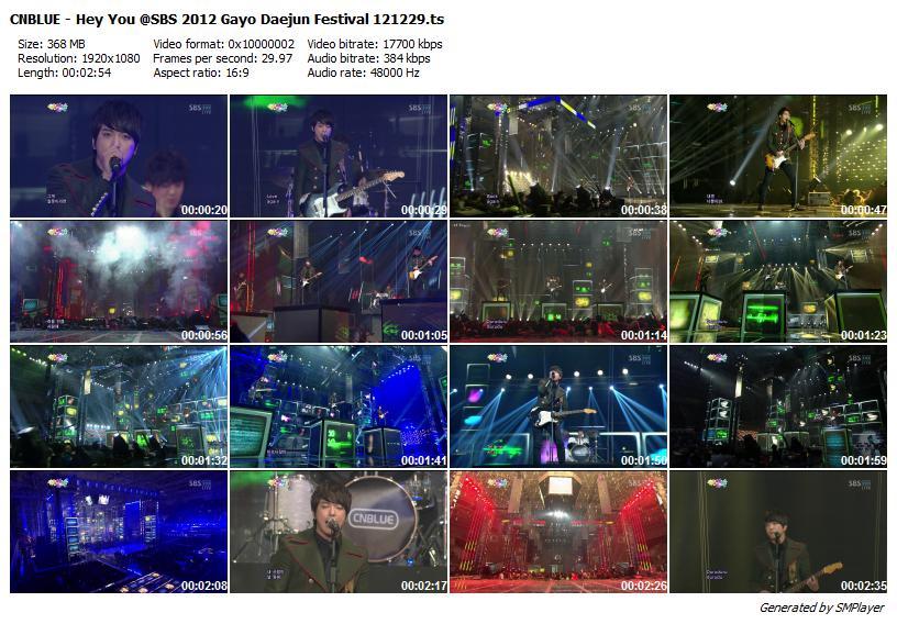 CNBLUE - Hey You @SBS 2012 Gayo Daejun Festival 121229
