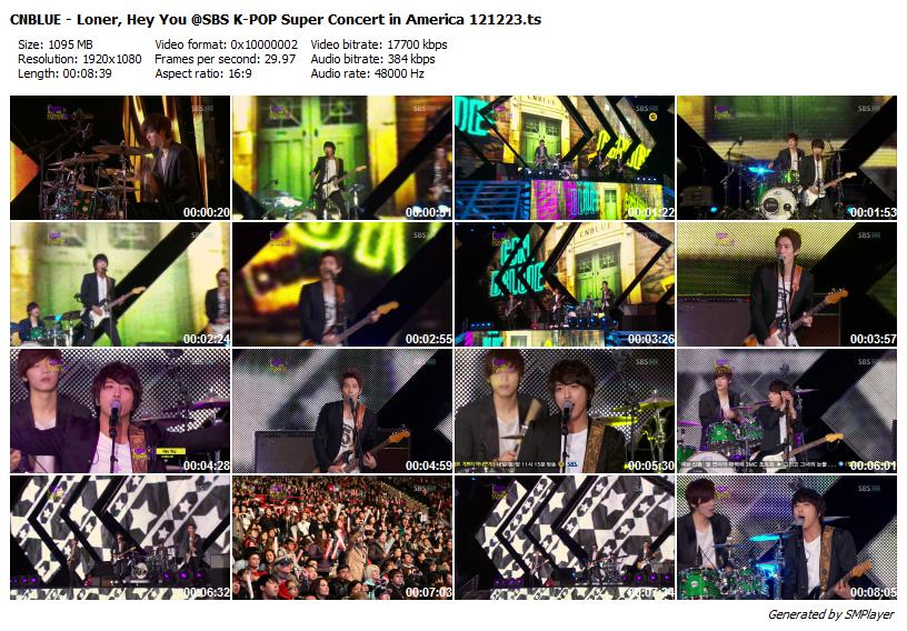 CNBLUE - Loner, Hey You @SBS K-POP Super Concert in America 121223