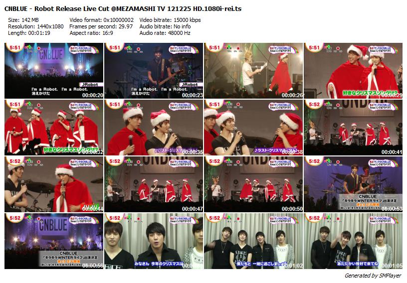 CNBLUE - Robot Release Live Cut @MEZAMASHI TV 121225 HD.1080i-rei