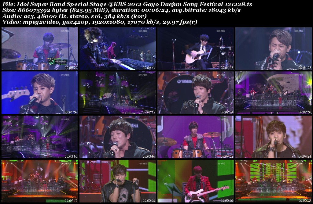Idol Super Band Special Stage @KBS 2012 Gayo Daejun Song Festival 121228