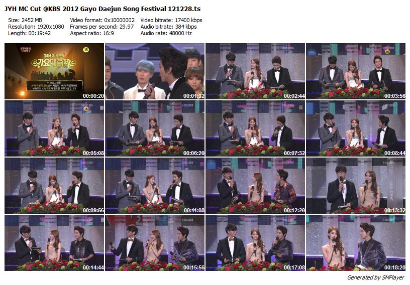 JYH MC Cut @KBS 2012 Gayo Daejun Song Festival 121228