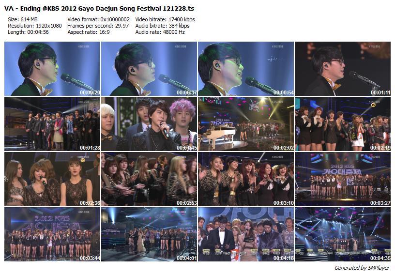 VA - Ending @KBS 2012 Gayo Daejun Song Festival 121228