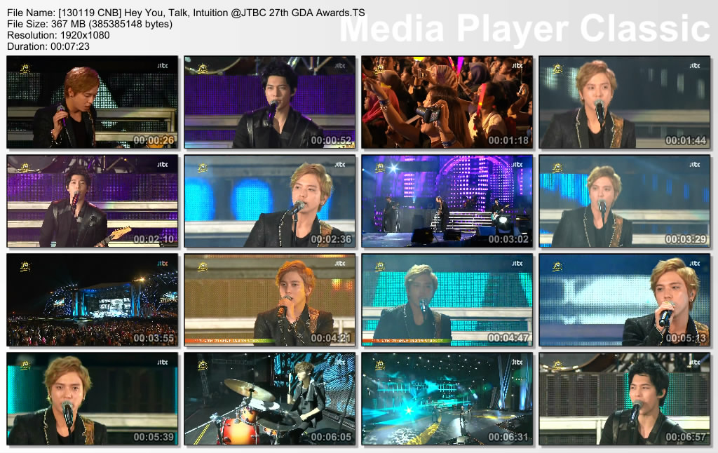 [130119 CNB] Hey You, Talk, Intuition @JTBC 27th GDA Awards