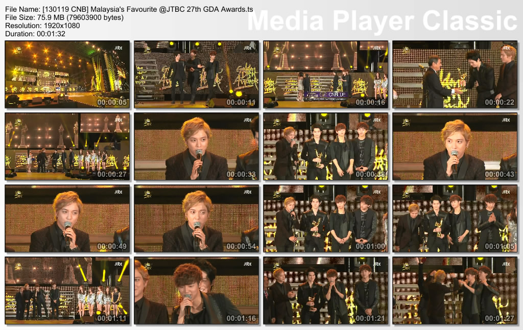 [130119 CNB] Malaysia's Favourite @JTBC 27th GDA Awards