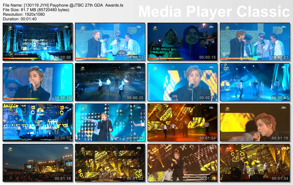 [130119 JYH] Payphone @JTBC 27th GDA  Awards