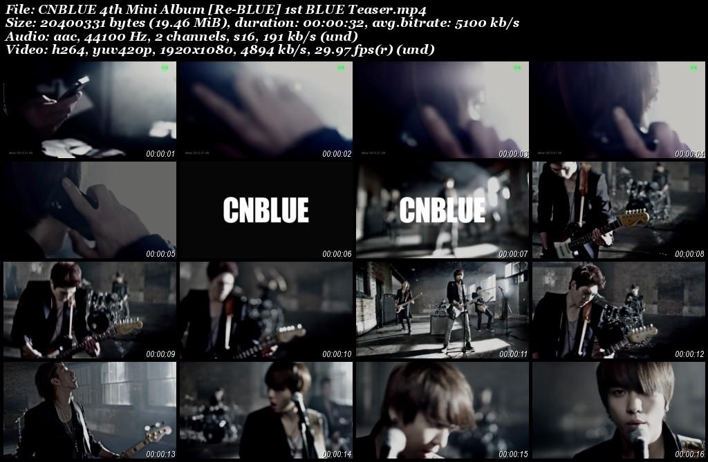 CNBLUE 4th Mini Album [Re-BLUE] 1st BLUE Teaser