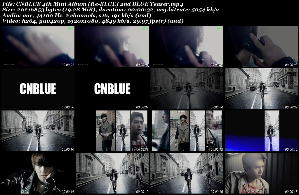 CNBLUE 4th Mini Album [Re-BLUE] 2nd BLUE Teaser
