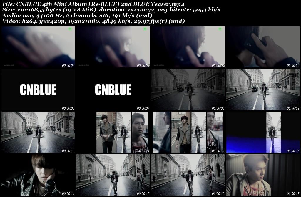 CNBLUE 4th Mini Album [Re-BLUE] 2nd BLUE Teaser