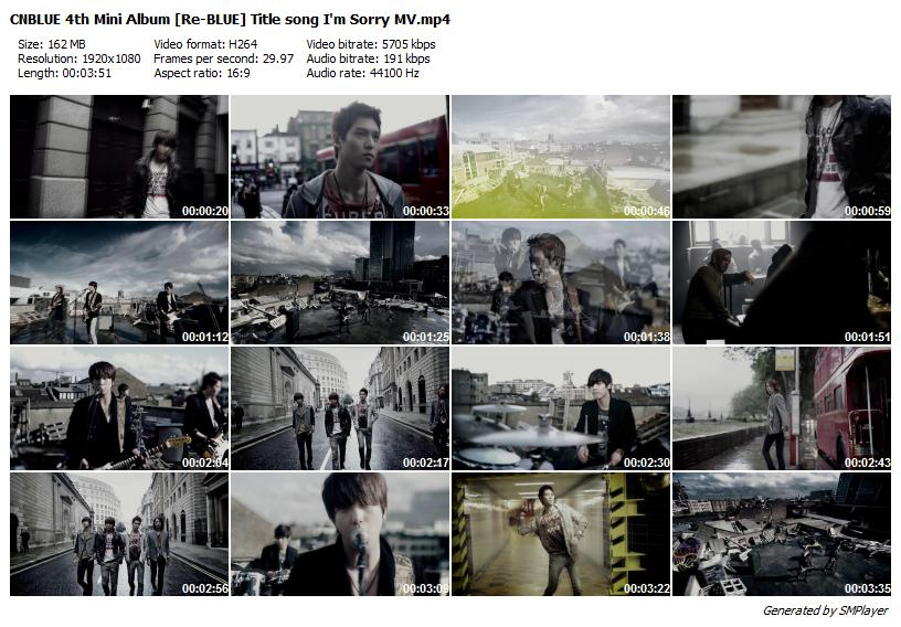 CNBLUE 4th Mini Album [Re-BLUE] Title song I'm Sorry MV
