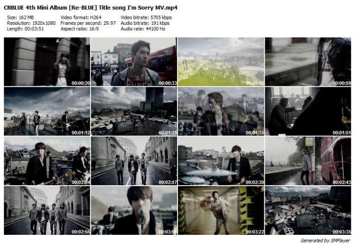 CNBLUE 4th Mini Album [Re-BLUE] Title song I'm Sorry MV