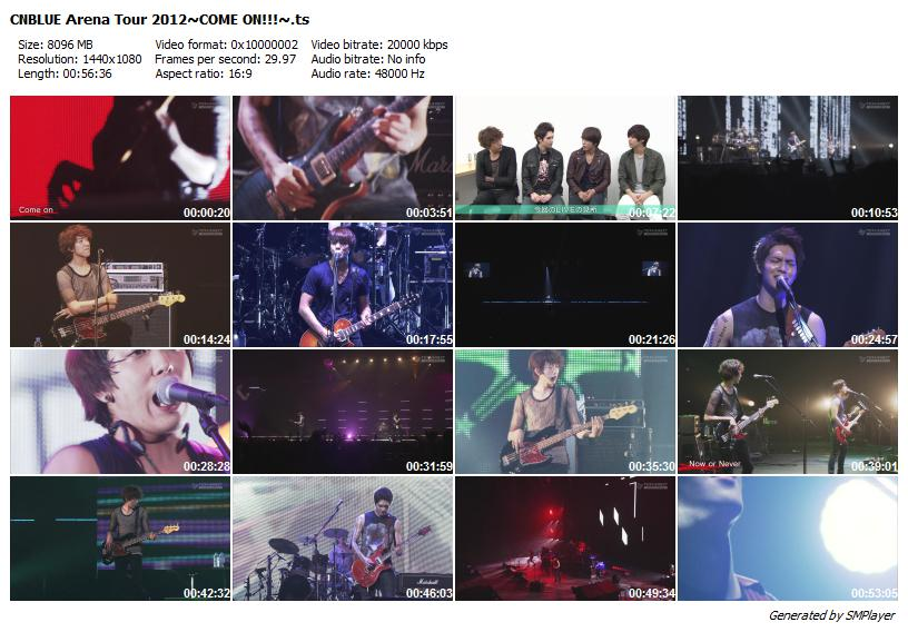 CNBLUE Arena Tour 2012~COME ON!!!~