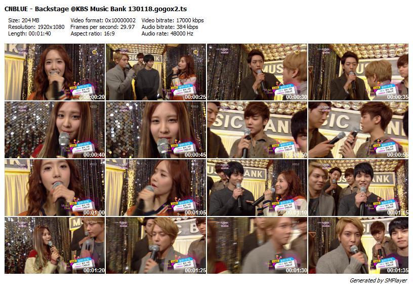 CNBLUE - Backstage @KBS Music Bank 130118.gogox2
