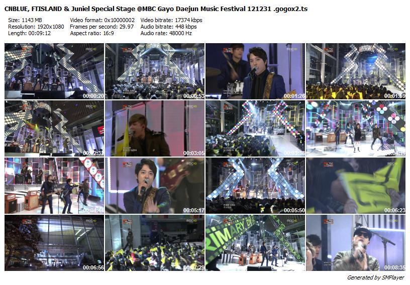 CNBLUE, FTISLAND & Juniel Special Stage @MBC Gayo Daejun Music Festival 121231 .gogox2