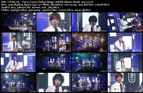CNBLUE - I'm a Loner Debut Stage @KBS Music Bank 100115