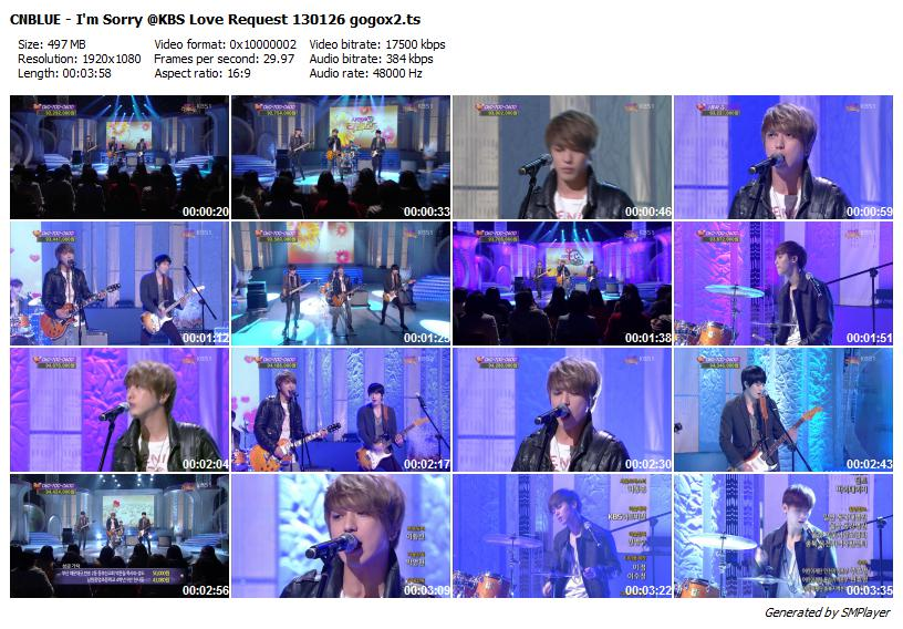 CNBLUE - I'm Sorry @KBS Love Request 130126 gogox2