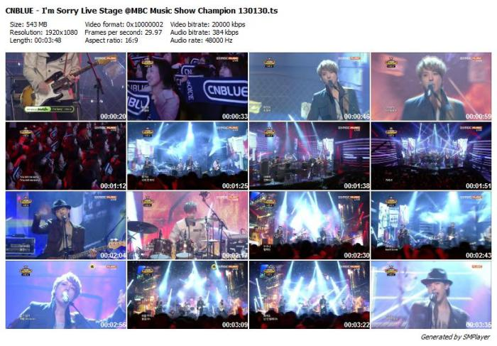 CNBLUE - I'm Sorry Live Stage @MBC Music Show Champion 130130