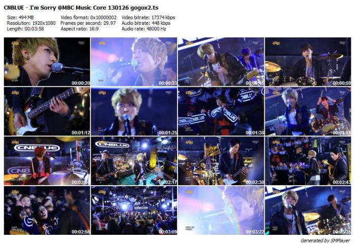 CNBLUE - I'm Sorry @MBC Music Core 130126 gogox2
