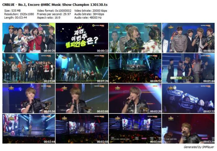 CNBLUE - No.1, Encore @MBC Music Show Champion 130130