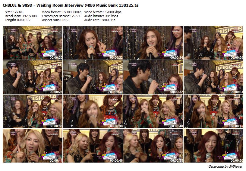 CNBLUE & SNSD - Waiting Room Interview @KBS Music Bank  130125