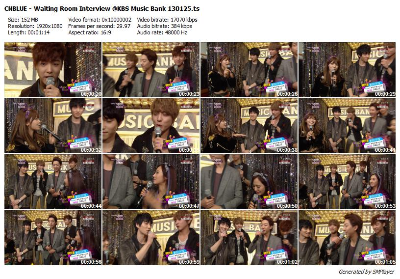CNBLUE - Waiting Room Interview @KBS Music Bank 130125