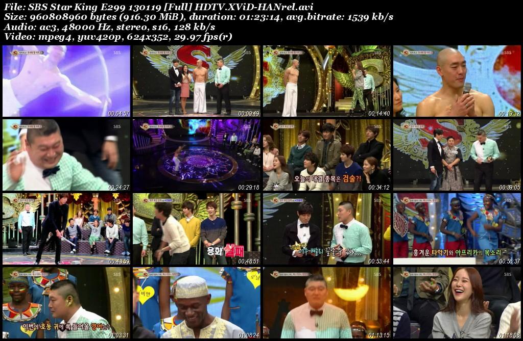 SBS Star King E299 130119 [Full] HDTV.XViD-HANrel