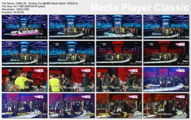 CNBLUE - Ending Cut @KBS Music Bank 130222