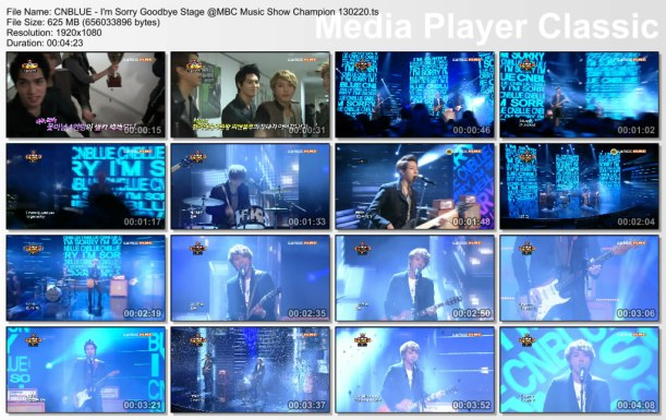 CNBLUE - I'm Sorry Goodbye Stage @MBC Music Show Champion 130220