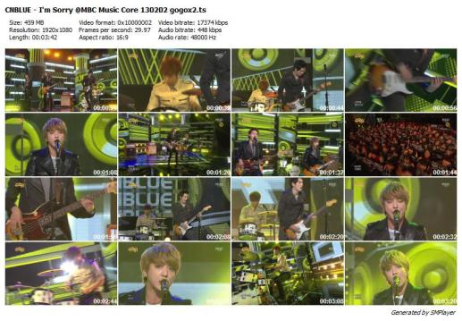 CNBLUE - I'm Sorry @MBC Music Core 130202 gogox2