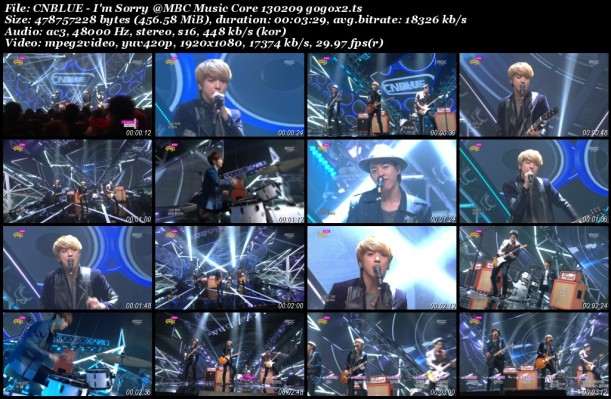 CNBLUE - I'm Sorry @MBC Music Core 130209 gogox2