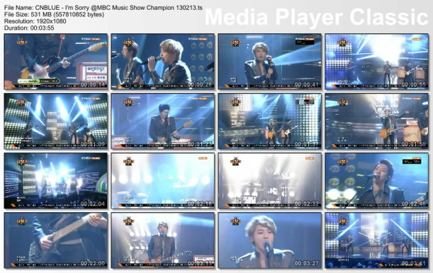 CNBLUE - I'm Sorry @MBC Music Show Champion 130213