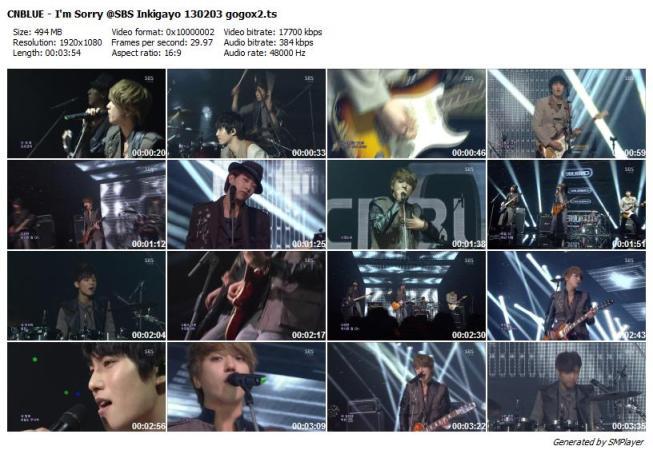 CNBLUE - I'm Sorry @SBS Inkigayo 130203 gogox2