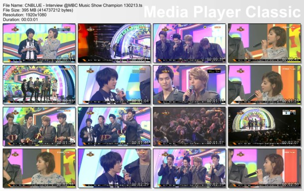CNBLUE - Interview @MBC Music Show Champion 130213