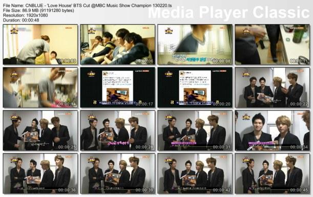 CNBLUE - 'Love House' BTS Cut @MBC Music Show Champion 130220