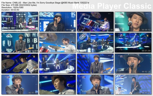 CNBLUE - Man Like Me, I'm Sorry Goodbye Stage @KBS Music Bank 130222