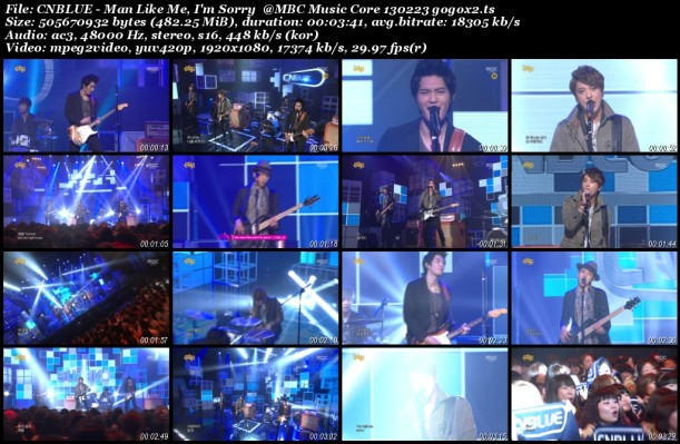 CNBLUE - Man Like Me, I'm Sorry @MBC Music Core 130223 gogox2