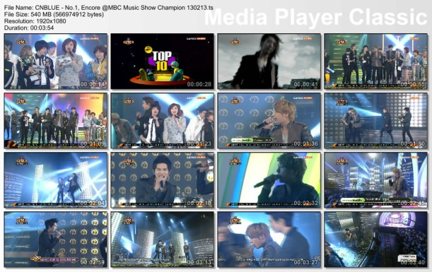 CNBLUE - No.1, Encore @MBC Music Show Champion 130213