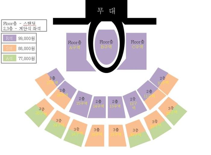 Blue Moon Live in Seoul Venue Chart