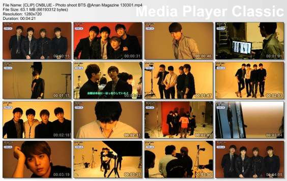 [CLIP] CNBLUE - Photo shoot BTS @Anan Magazine 130301