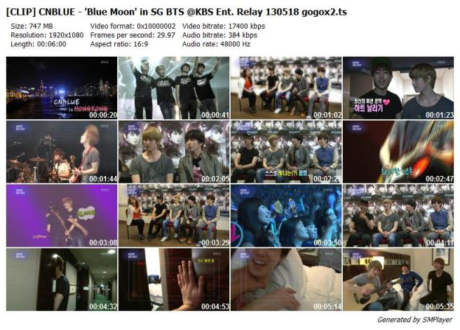 [CLIP] CNBLUE - 'Blue Moon' in SG BTS @KBS Ent. Relay 130518 gogox2_preview