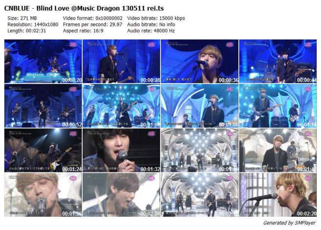 CNBLUE - Blind Love @Music Dragon 130511 rei