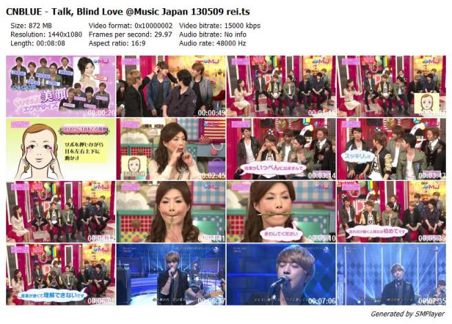 CNBLUE - Talk, Blind Love @Music Japan 130509 rei