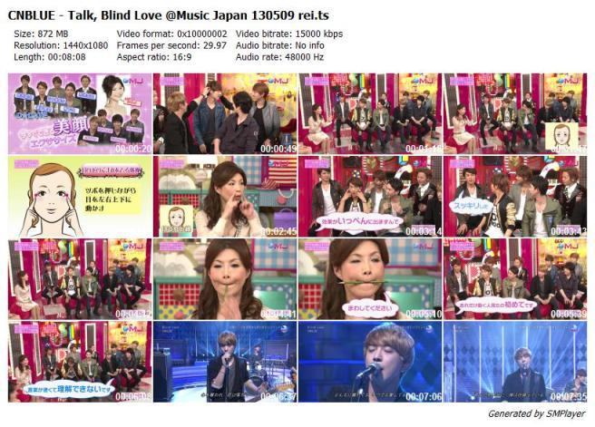 CNBLUE - Talk, Blind Love @Music Japan 130509 rei