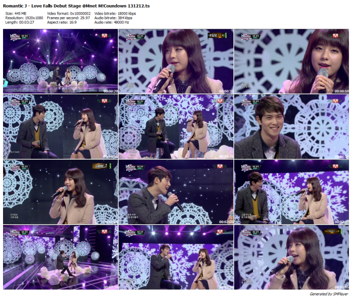 Romantic J - Love Falls Debut Stage @Mnet M!Coundown 131212_preview