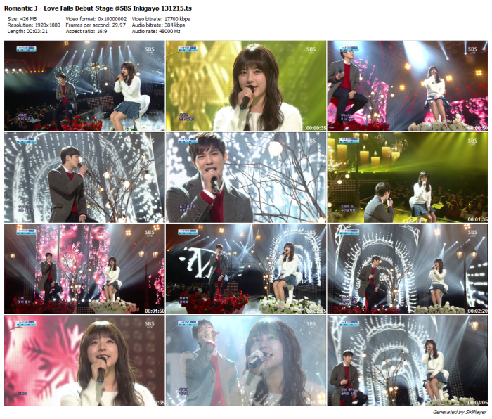 Romantic J - Love Falls Debut Stage @SBS Inkigayo 131215_preview
