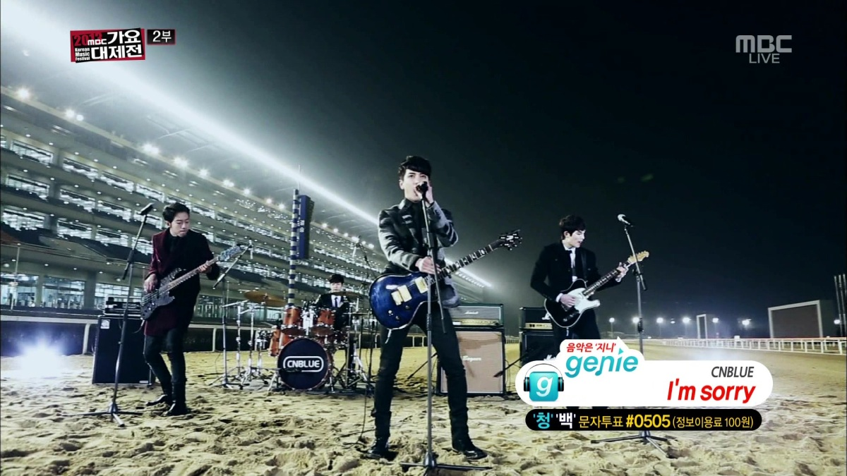 [Vid | Pic] 131231 CNBLUE - Lady, I'm Sorry PLUS Romantic J Perform @ MBC Gayo Daejun Music Festival